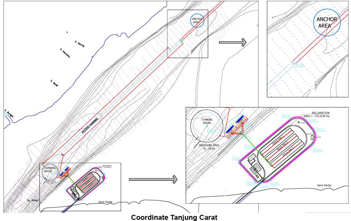 Adani tanjung carat project pelabuhan diproyeksikan untuk dapat melayani pemuatan batubara ke kapal mother ship yang akan bertambat di dermaga pelabuhan ini ccuart Choice Image